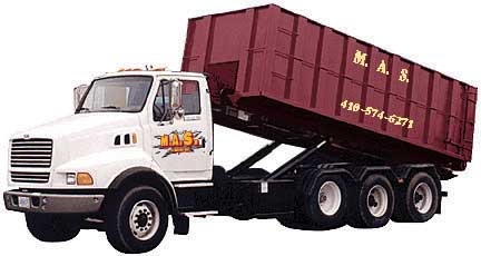 Mas Company Roll Off Containers Tire Removal Debris